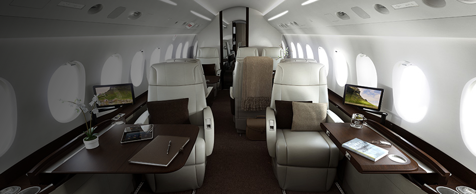 Inside one of our Luxury Private Jets